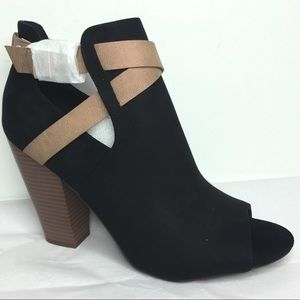 JustFab Open Toe Bootie NWOT